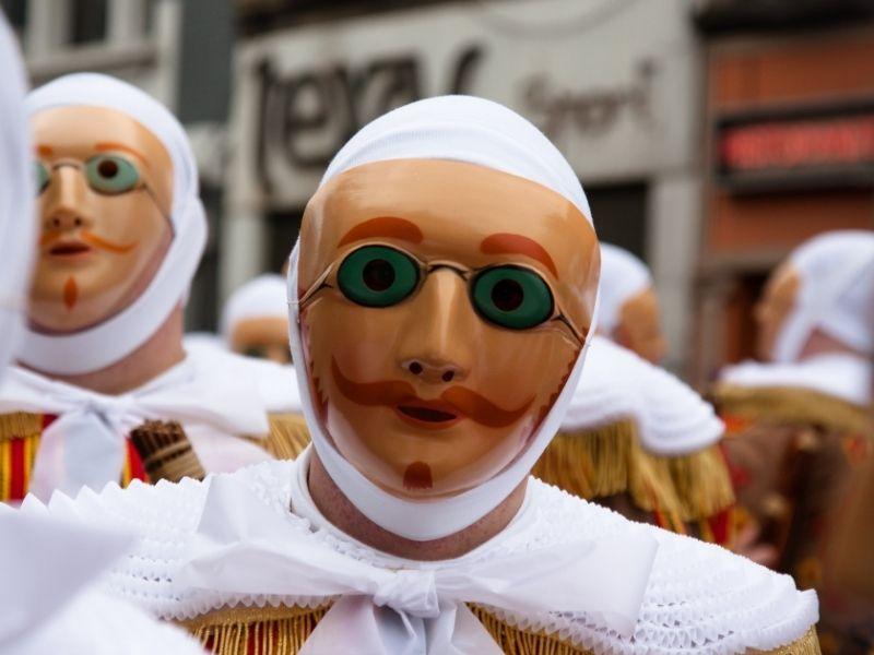 Gilles carnaval in belgie