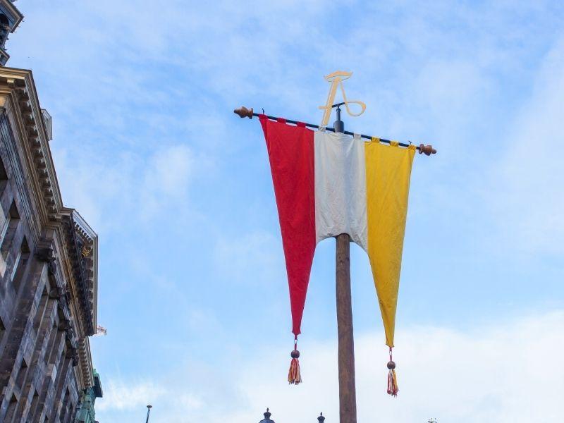 Kleuren oeteldonk vlag wimpel